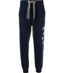 mrz patchwork drawstring trousers - blue