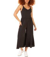 black tape drapey soft knit jumpsuit