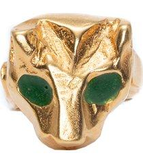 anel feminino pantera em metal - ouro