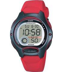 reloj casio lw_200_4av rojo resina mujer