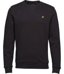 crew neck sweatshirt sweat-shirt trui zwart lyle & scott