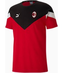 ac milan iconisch mcs t-shirt voor heren, rood, maat l | puma