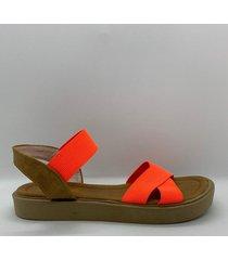 sandalia naranja shork shoes melisa