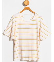 sharon stripe back twist knit top - ivory