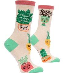 blue q proud plant mom crew socks
