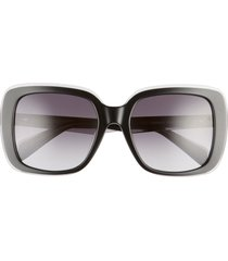 women's rag & bone 55mm gradient square sunglasses -