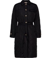 stinna quilt coat doorgestikte jas zwart soft rebels