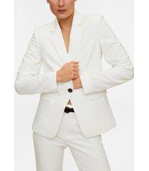mango women's essential structured blazer