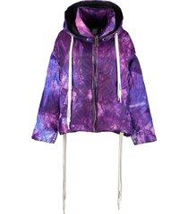 khrisjoy khris printed oversize down jacket