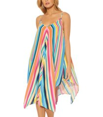 bleu by rod beattie handkerchief-hem swim cover-up women's swimsuit