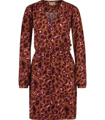 josh v leopard print jurk model zenia kleur camel/leopard