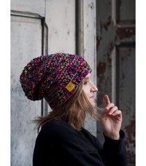 crazycolor czapka czarna/kolor