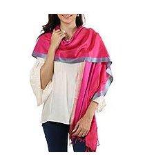 silk shawl, 'radiant luxury' (india)