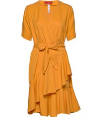 danica jurk knielengte oranje whyred