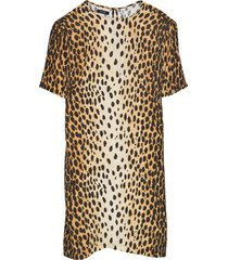 shift dress in cheetah