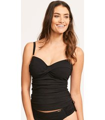 ottawa padded twist front tankini top