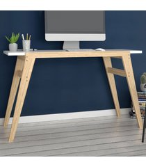 mesa escrivaninha bc 79 branco/pinus claro - brv moveis