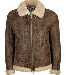 drome fur applique vintage effect jacket