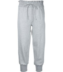 3.1 phillip lim cropped track pants - grey