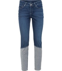jeans skinny effetto patchwork in cotone biologico (blu) - rainbow