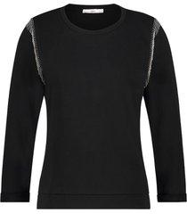 sweater met kraaltjes shana  zwart