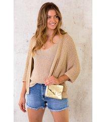 lurex vest loose fit gold