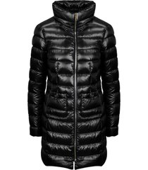 herno full zip long quilted down jacket