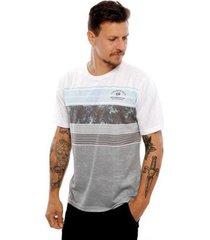 camiseta vida marinha manga curta masculina - masculino