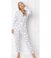 kombinezon polar bear onesie grey