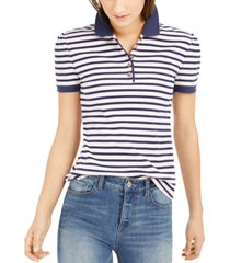 maison jules striped polo shirt, created for macy's