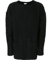 faith connexion boat neck sweater - black