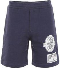 alexander mcqueen patch shorts