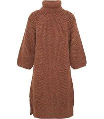 bravo roll neck 3/4 knit dress