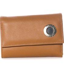 billetera de cuero chocolate xl extra large sangay billetera
