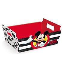 10 cestas caixote organizadora papel mickey disney festa