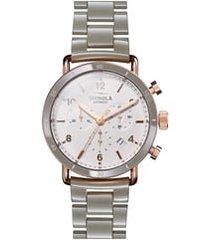 shinola the canfield chrono bracelet watch, 40mm