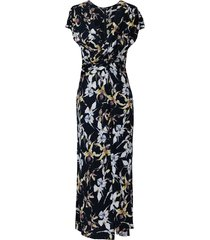 jason wu collection wild orchid printed dress - black