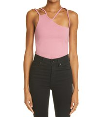 k.ngsley unisex fist geometric cutout ribbed tank, size x-small in vintage pink at nordstrom