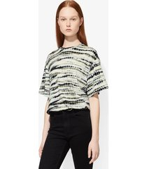 proenza schouler tie dye short sleeve t-shirt lavender/green/black/multicolour l