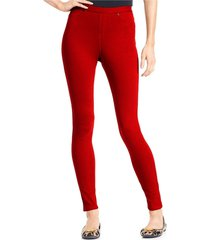 hue women's jester red skinny stretch cotton original denim leggings, x-small