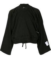 botter cropped oversized sweatshirt - black