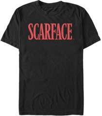 scarface men's red logo short sleeve t-shirt