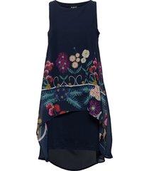 vest carnegie korte jurk blauw desigual