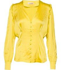 pary blus långärmad gul custommade