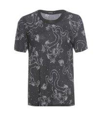 t-shirt gola retilínea - preto