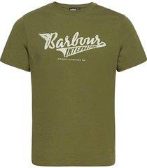 b.intl steering tee t-shirts short-sleeved grön barbour