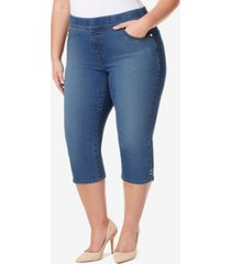 gloria vanderbilt women's plus avery pull on capri
