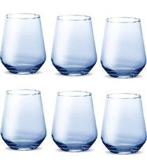conjunto de copos miami solid color 420 ml -  azul - casa linda - tricae
