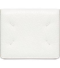 maison margiela logo leather wallet