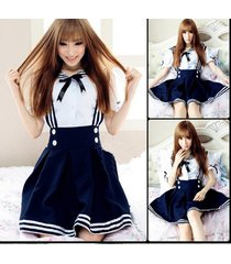 2015 japanese school uniform cosplay costume anime dress blue girl cosplay cute